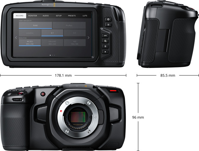 Blackmagic Design представила Pocket Cinema Camera 4K